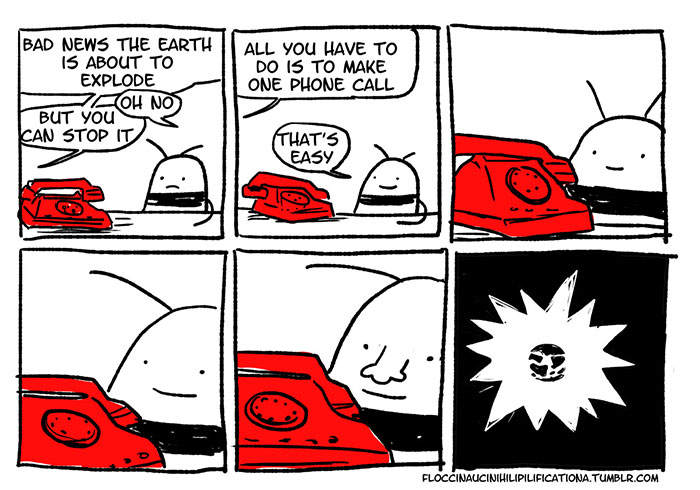 Introvert making a phone call