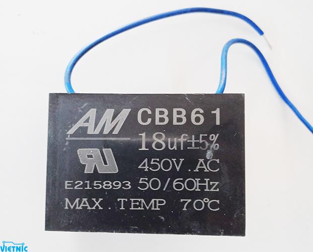 Tụ ngậm AM CB661 18uF-450V - cửa hàng linh kiện điện tử Vietnic