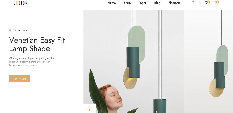 Interior design woocommerce themes lusion