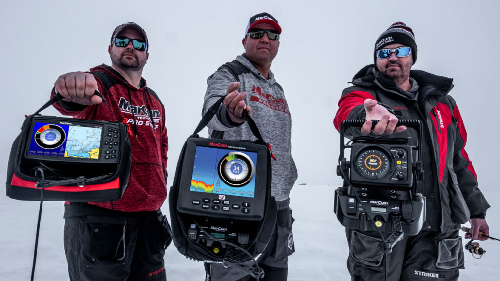 Joel Nelson, Tony Roach, and Rocky Holmes explore the differences between digital and mechanical sonar ice fishing flasers.