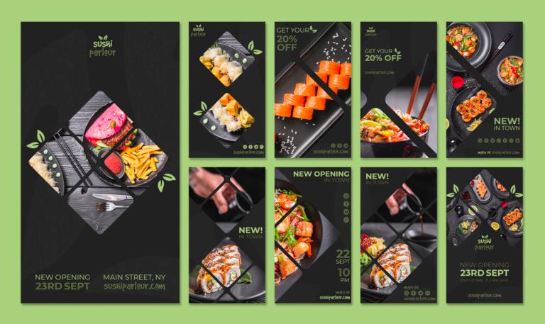 Food Instagram Stories Templates
