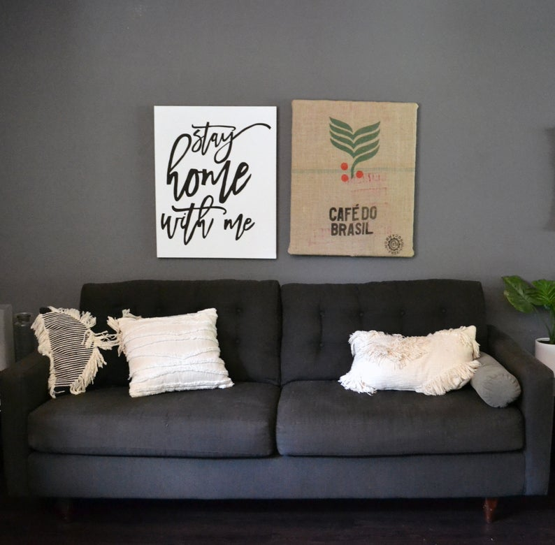 Coffee Bag DIY Wall Decor