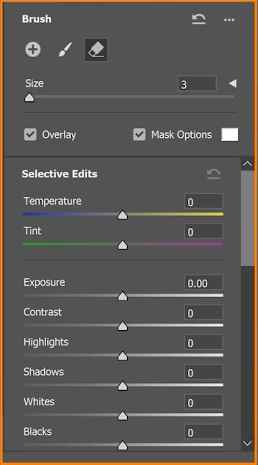 Use the following sliders to control the color and tonal adjustments in an image.