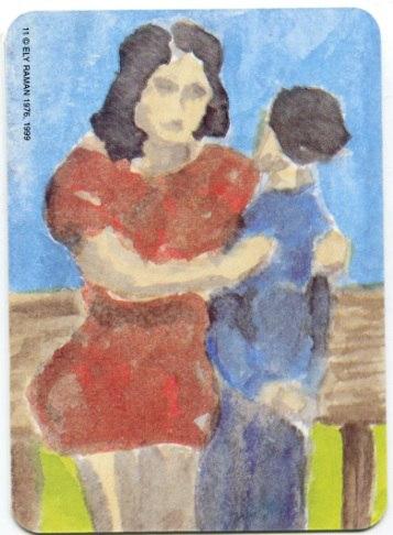 Карта из колоды метафорических карт Ох: мама и сын