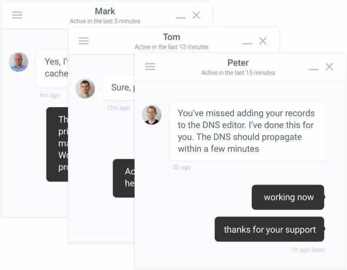 Kinsta-intercom-chat Kinsta Đánh giá 2019