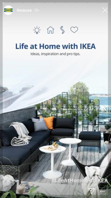 Ikea Instagram story