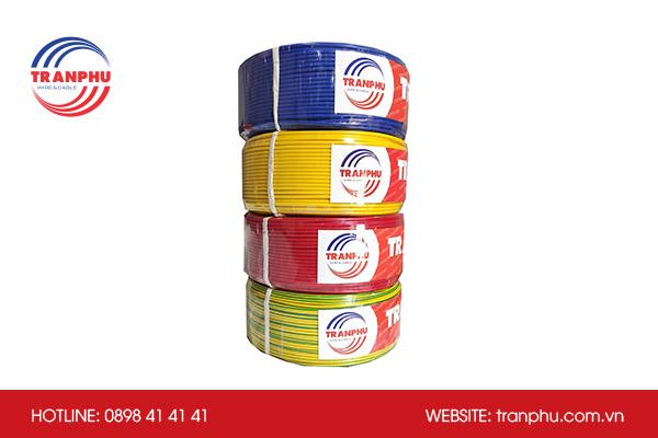Màu sắc dây và cáp điện Trần Phú giúp người dùng định vị dễ dàng tính năng dây