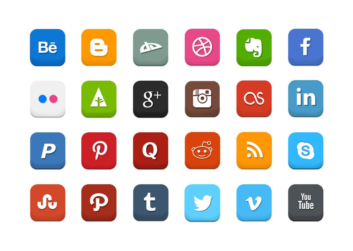 Icônes partage réseaux sociaux