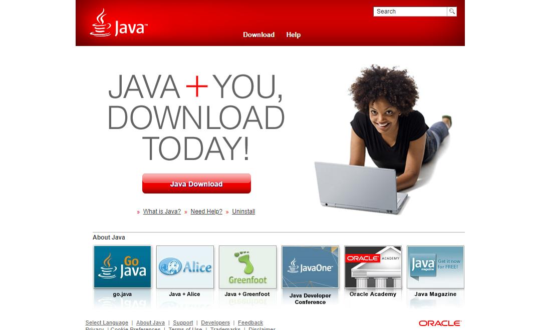 Official Java website