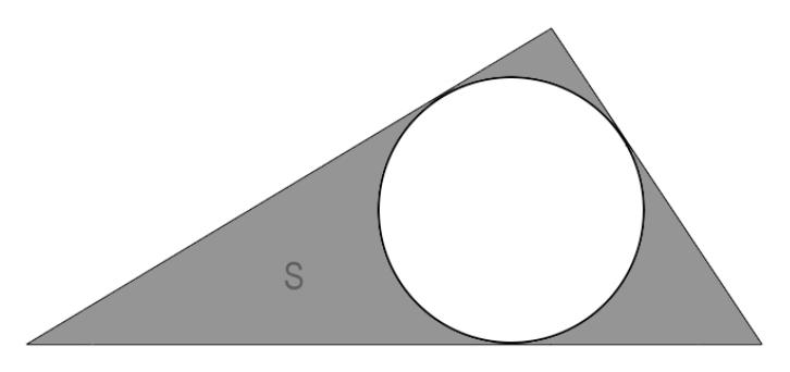 иллюстрация разбираемой формулы с полупериметром