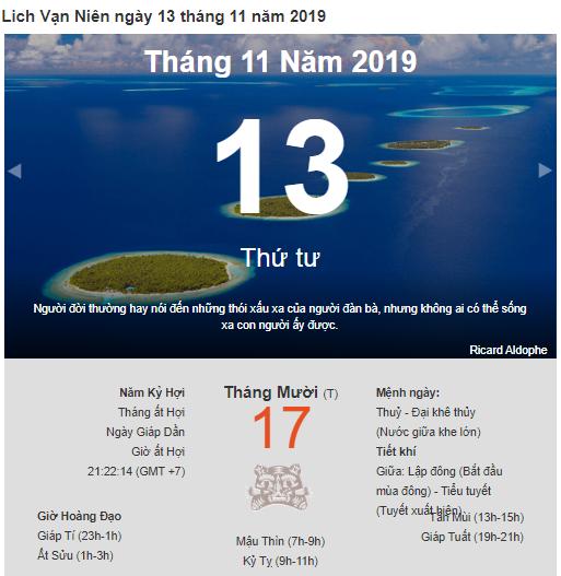 Dự đoán kết quả xsmb ngày 13/11/2019 theo phong thủy