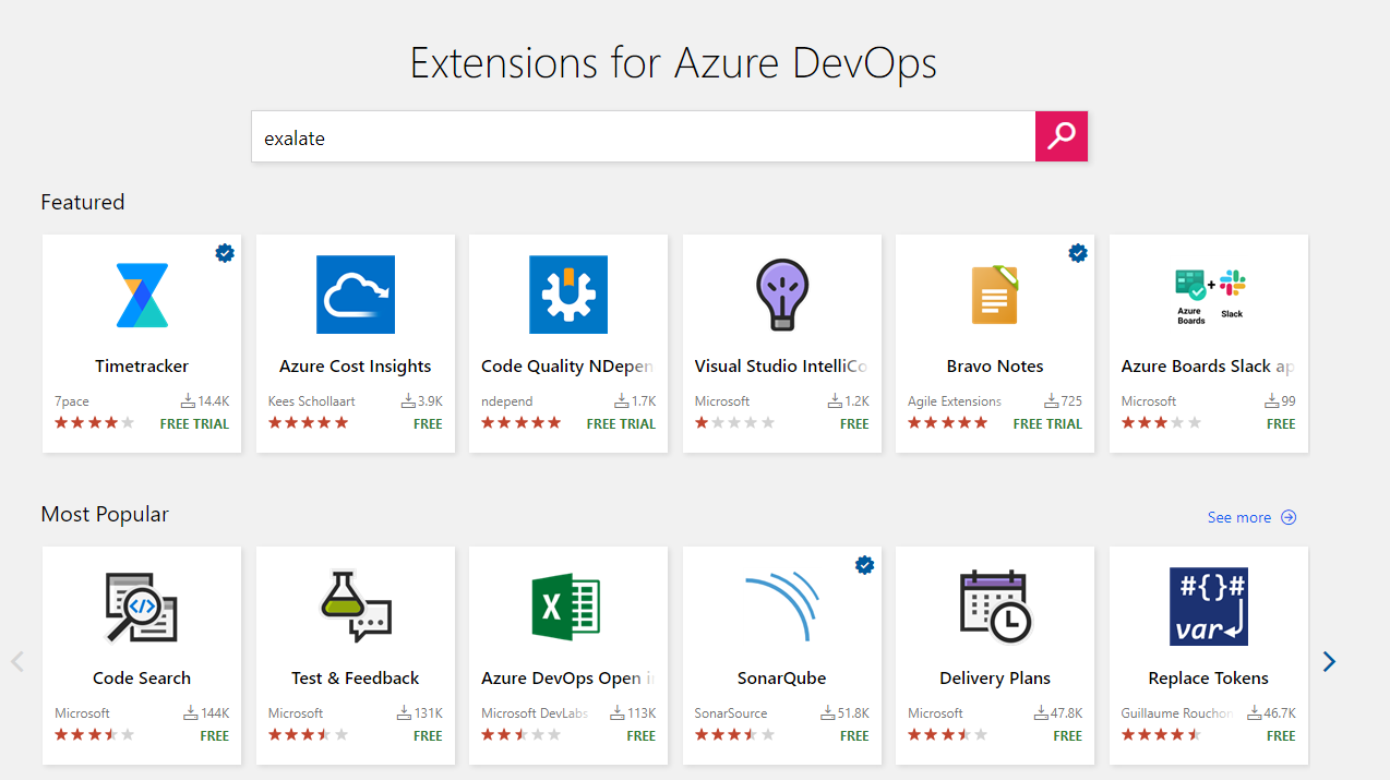 azure devops marketplace