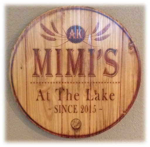 Mimi's At The Lake wooden coaster