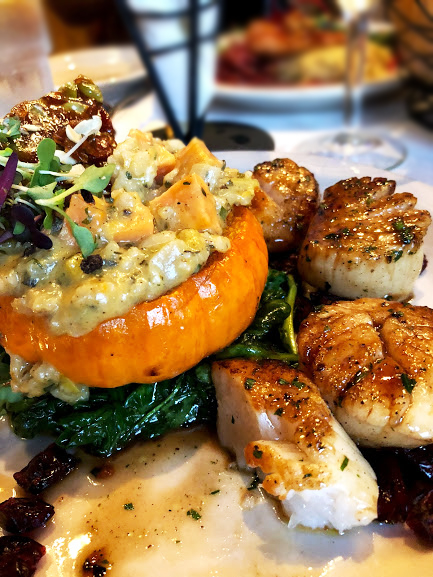 Food, scallops Burlington Vermont, French