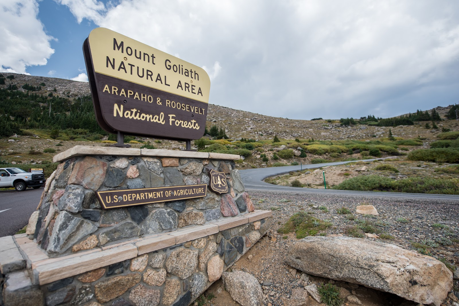 Bicycling Mount Evans - Arapaho Roosevelt National Forest sign