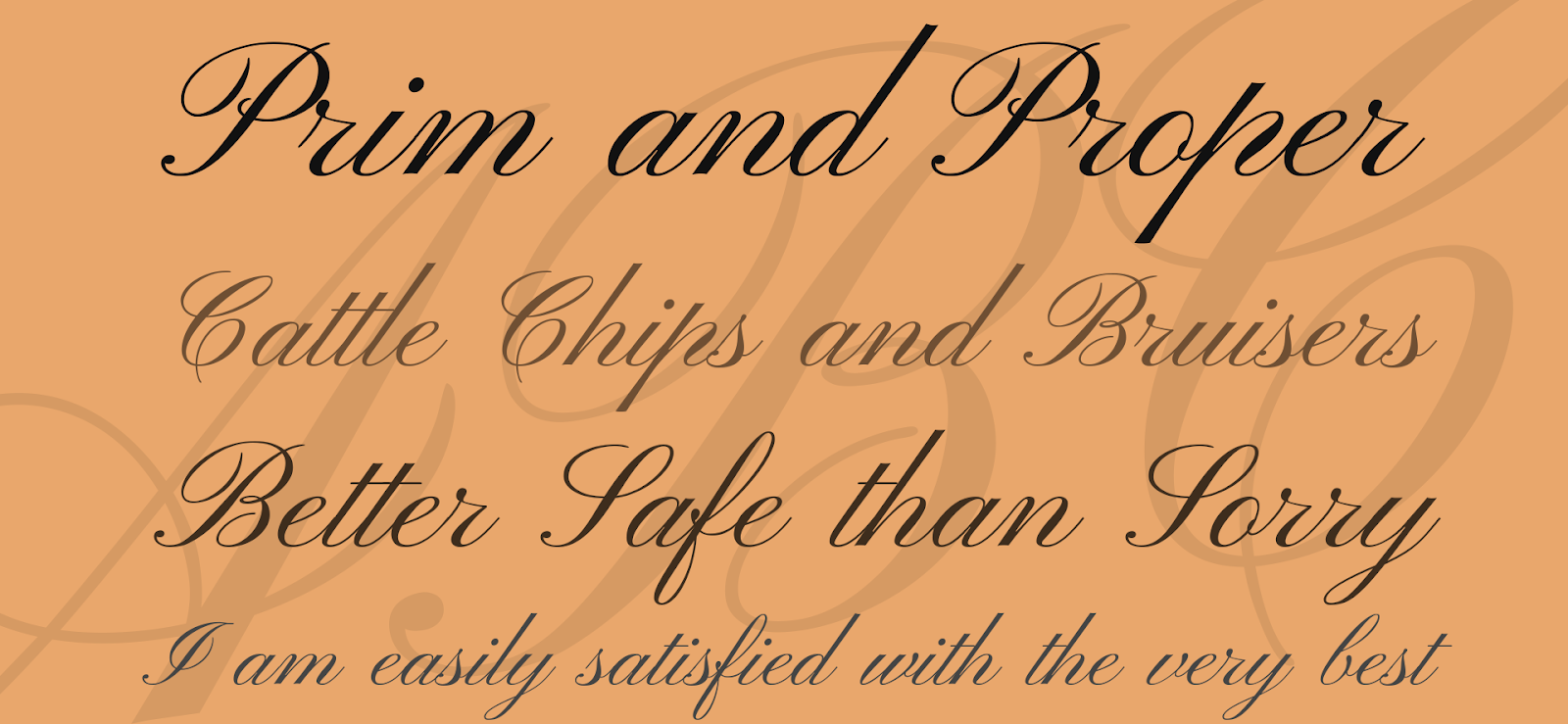 Old-fashioned calligraphy font called Pinyon Script