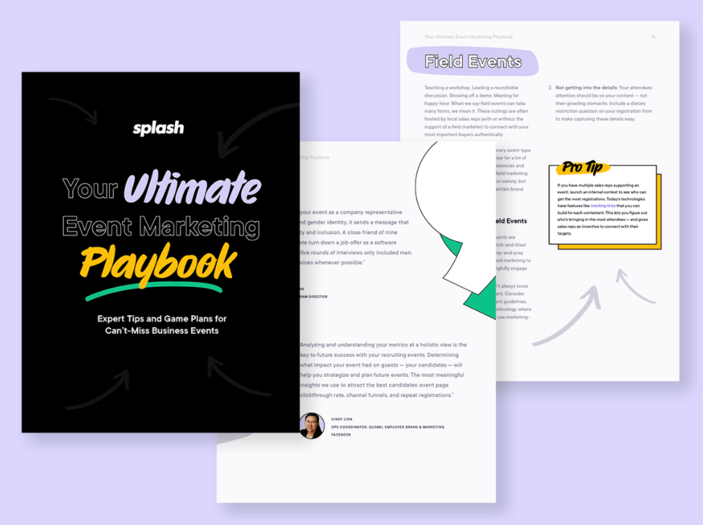 Screenshot of an ebook's cover titled Your Ultimate Event Marketing Playbook.