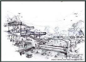 sketsa desain waterpark 3