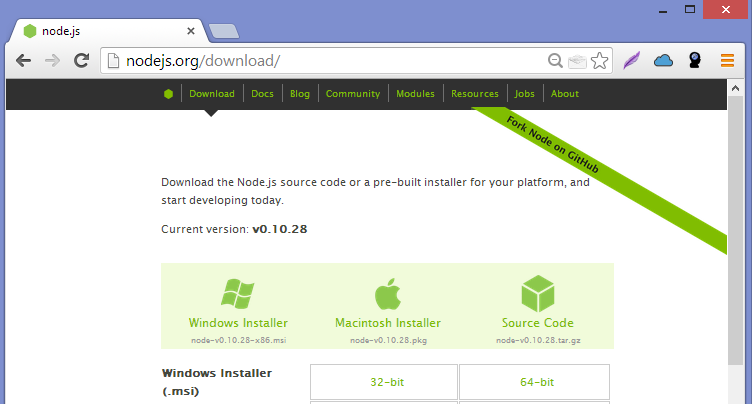 how to install node js in windows 10 64 bit step by step