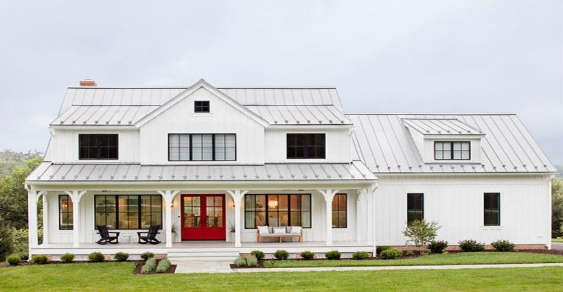 Tôn cách nhiệt trắng sữa- tạo điểm nhấn cho ngôi nhà