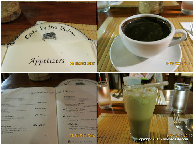 Menu, Hot Choco and Iced Latte