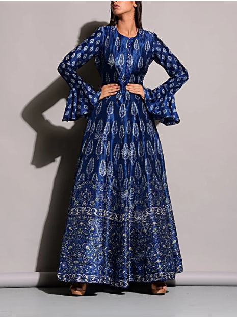 Blue Vasansi Anarkali Gown