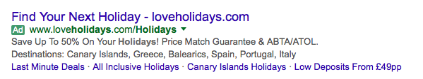 Structured Snippet Examples for holiday destinations