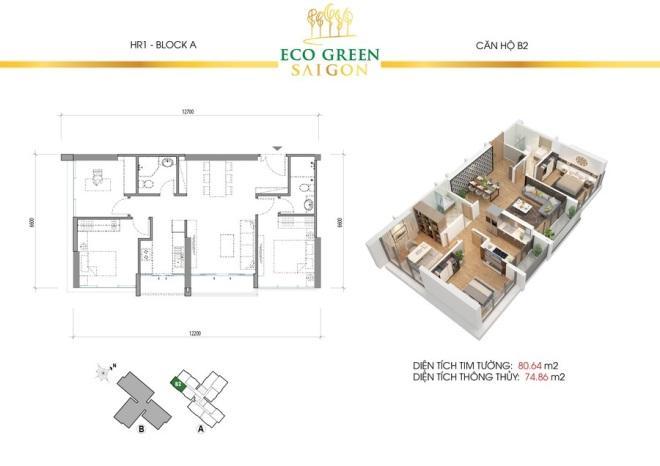 Tùy từng diện tích căn hộ mà mức giá thành của chúng sẽ khác nhau