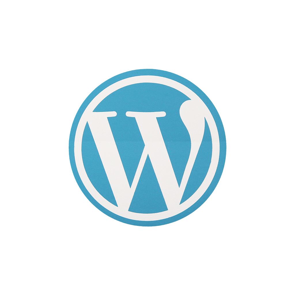 Logo for the website design company WordPress.