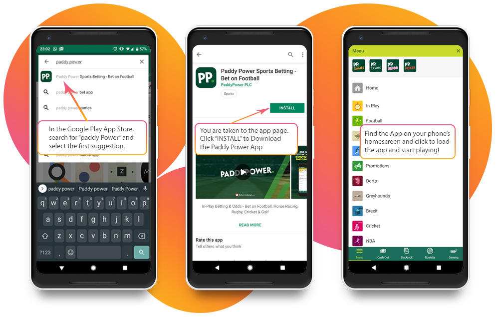 paddy power mobile app for Android image