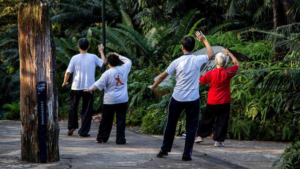 В Сингапуре много парков, и жители используют их, чтобы проводить больше времени на воздухе