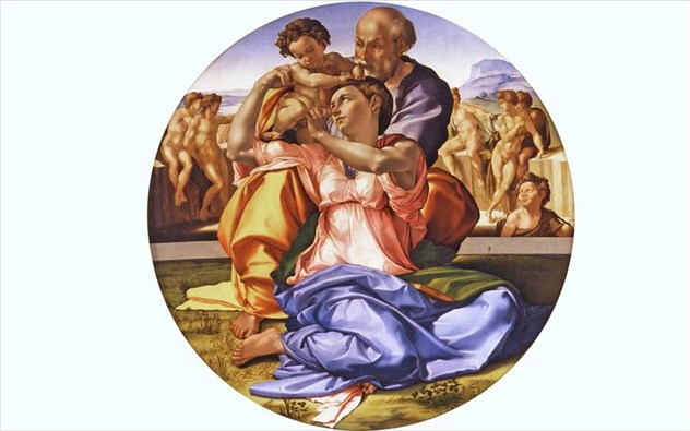 Michelangelo, Doni Tondo, 1507.jpg