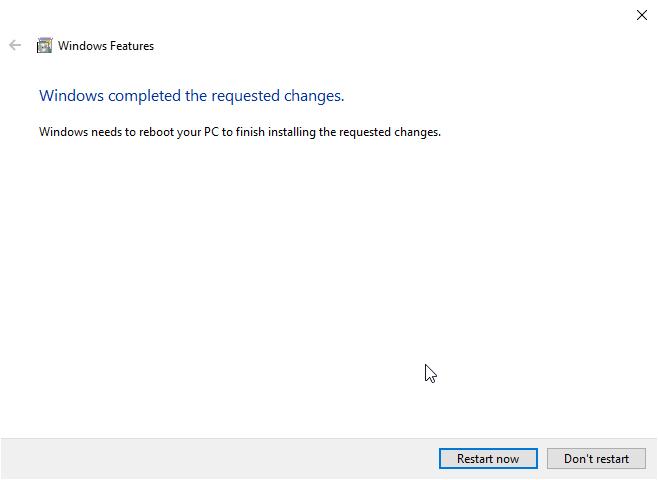 Windows 10 Instalada funcionalidades adicionais