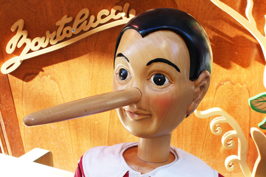 Pinocchio   Long nose Pinocchio wooden doll by Bartolucci ...
