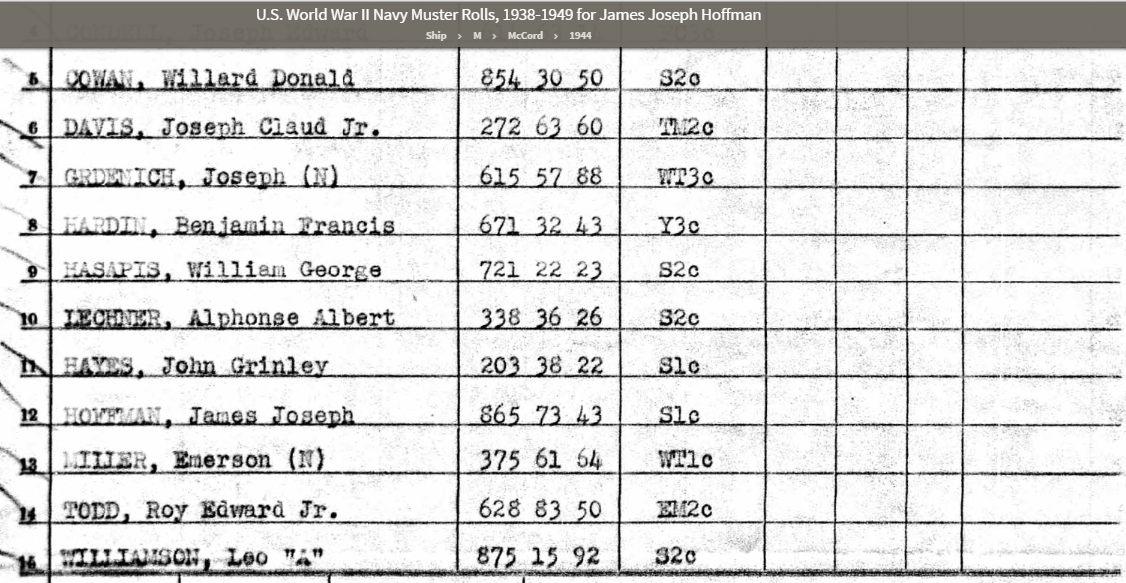 JJ Hoffman Muster Roll OCT 1944.jpg