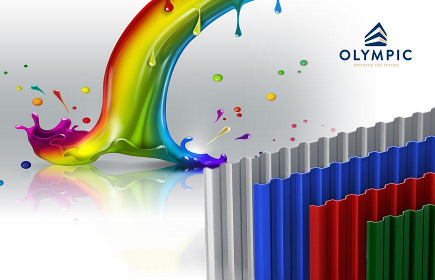 Tôn Olympic sở hữu màu tôn vô cùng đa dạng