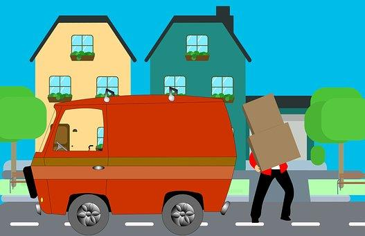 Home, Move, House, Mover, Truck, Help