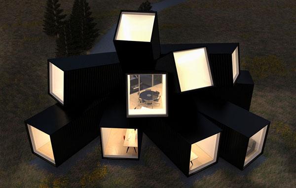 Container văn phòng hình khối sáng tạo và độc đáo