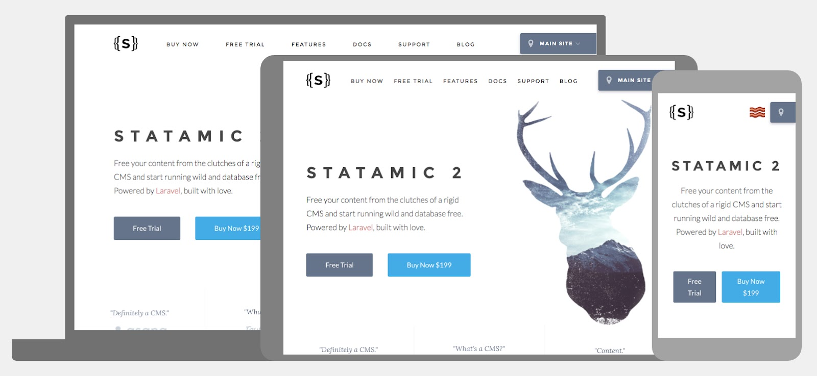 Statamic homepage