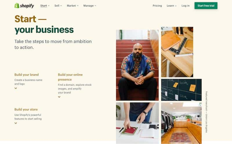 Shopify Start your business
