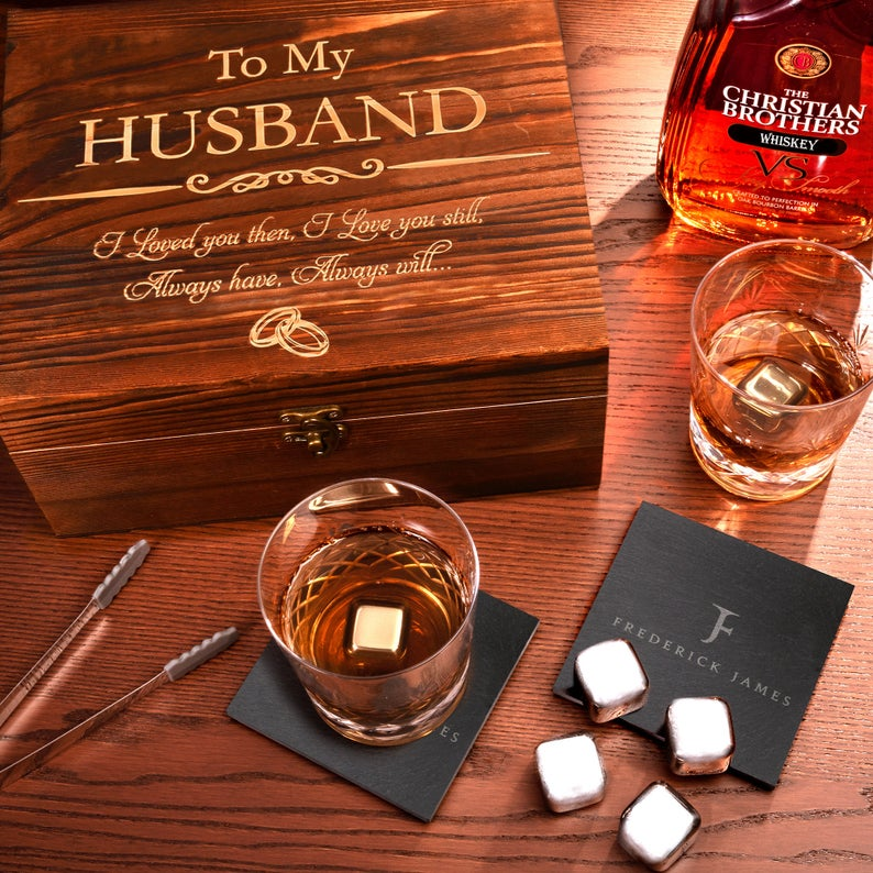 Whiskey gift set for him by Frederick James Gifts