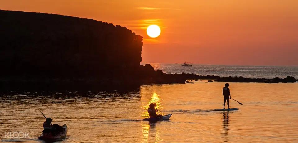 澎湖小門嶼獨木舟夕陽環島體驗