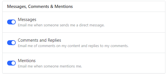 messages, comments, and mentions quora