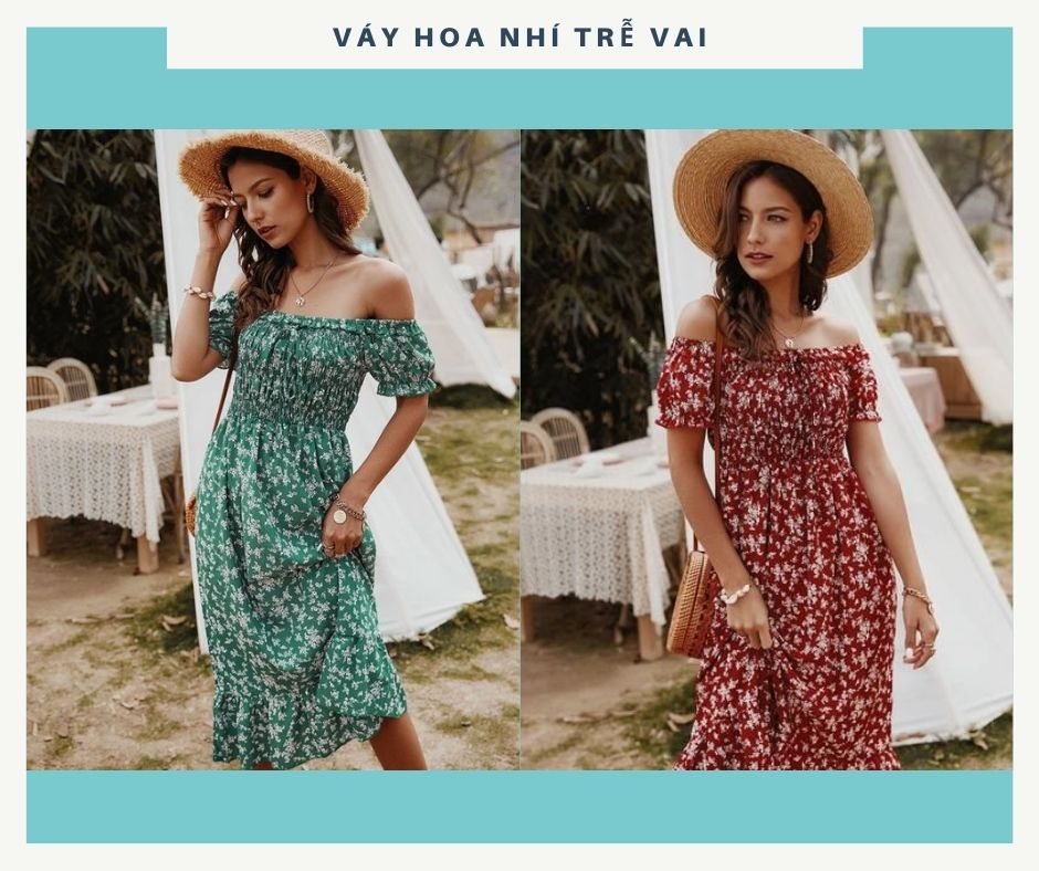 Váy hoa nhí: Chưa bao giờ là hết hot với các chị em - ảnh 3
