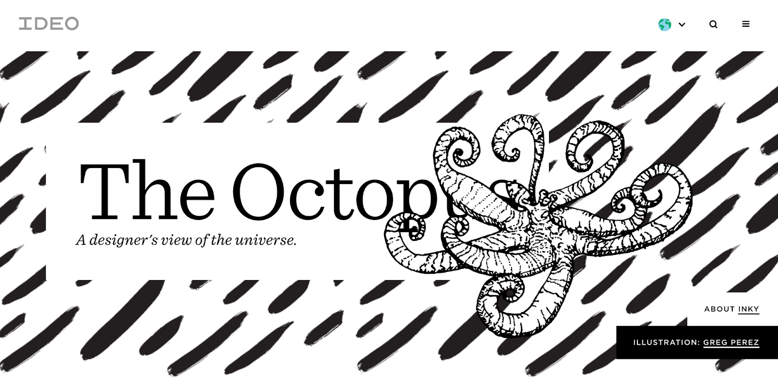 The Octopus best website design award winner 2019