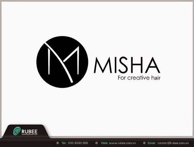 Logo thương hiệu Misha sản phẩm cho tóc 2 đẹp