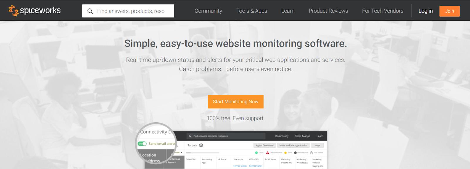 Spiceworks Server monitoring software