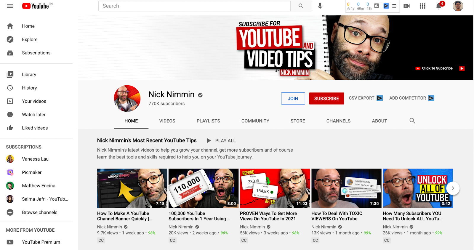 Picmaker-YouTube-Channel-Example-Nick-Nimmin