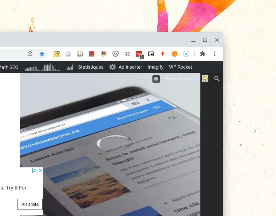 Icône extension Chrome