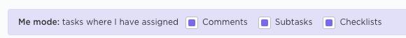 """Me"" mode clickup"
